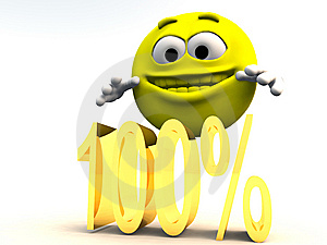 I Got 100 Per Cent Royalty Free Stock Photo - Image: 8891585