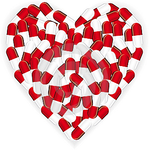 Heart Pill Stock Image - Image: 8893931