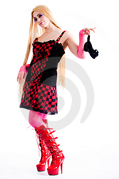 Harajuku Girl Holding A Pussycat Stock Photography - Image: 8895192