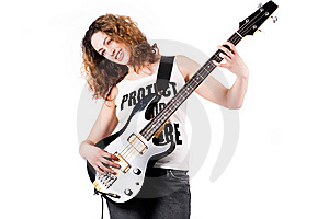 Sweet Girl With A Guitar Stock Images - Image: 8895594