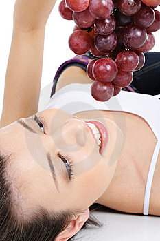 Fresh Bunch Of Grapes In Human Hands Stock Photography - Image: 8896082