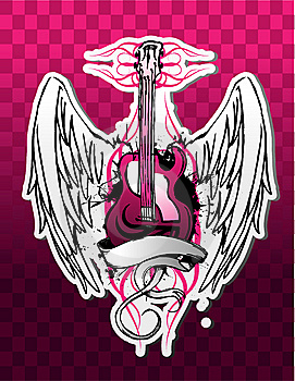 Guitare énervée Image libre de droits - Image: 8898046