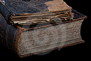 Ancient Books On Black Royalty Free Stock Photos - Image: 8898828