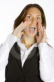 Screaming Out Loud Royalty Free Stock Images - Image: 8899519