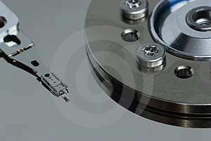 Hdd Reader-writer Arm And Spindle Stock Photography - Image: 899172