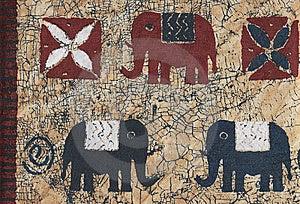 Natural African Batik. Stock Photos - Image: 8900583