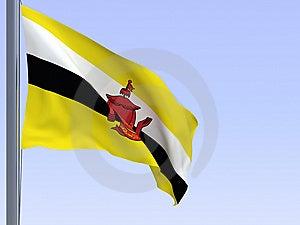 Brunei Flag Stock Images - Image: 8900644
