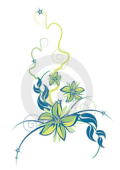 Vector Flower Composition Royalty Free Stock Photography - Image: 8902107