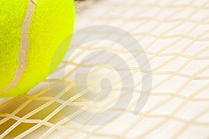 Abstract Tennis Ball, Racquet And Strings Royalty Free Stock Photography - Image: 8902617