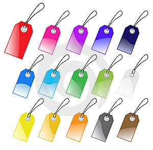 Colored Vector Tags Collection. Royalty Free Stock Image - Image: 8902876