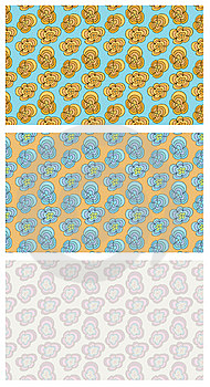 Funky Flowers Seamless Pattern Stock Photos - Image: 8904203