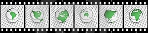 Green Globe Film Strip Royalty Free Stock Image - Image: 8904326