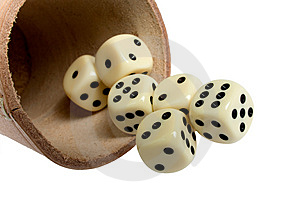 Dice Cup And Dice Royalty Free Stock Photos - Image: 8906718