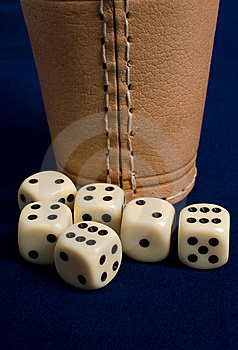 Dice Cup And Dice Stock Photography - Image: 8906732