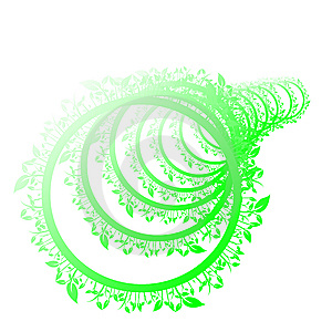 Floral Green Circle Stock Photography - Image: 8907032