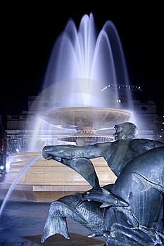 Marble Fountain At Night Royalty Free Stock Photo - Image: 8908005