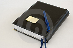 Business Diary Organiser With Blue Pen And Note Royalty Free Stock Photo - Image: 8908355