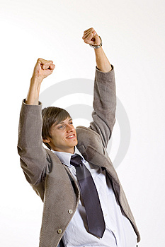 Businessman Victory Sign Stock Photos - Image: 8911193