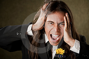 Handsome Man In Formalwear Screaming Stock Photography - Image: 8911422