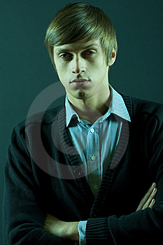 Portrait Of A Young Male Fashion Model Royalty Free Stock Photography - Image: 8911977