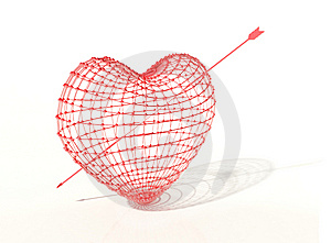 Pierced Heart Stock Images - Image: 8912334