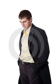 Young Man In Topcoat Royalty Free Stock Photo - Image: 8913115
