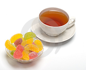 Fruit Candy And Tea Royalty Free Stock Photos - Image: 8913798