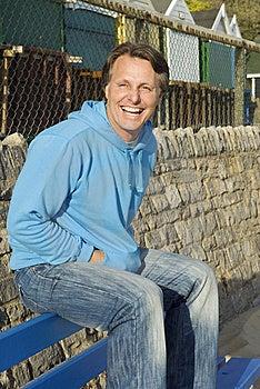 Homem Feliz Dos Anos Quarenta. Fotografia de Stock - Imagem: 8914252