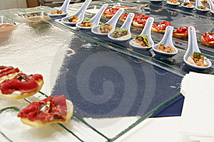 Gourmet Canapes Royalty Free Stock Photos - Image: 8914458