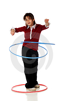 Hoola Hooping Royalty Free Stock Photo - Image: 8917835