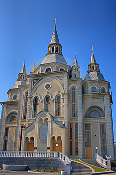 Church On A Blue Sky Background. HDR. Stock Images - Image: 8920254