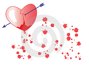 Bloody Heart Royalty Free Stock Photography - Image: 8923407