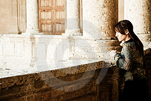 Young Woman In Palace Stock Photos - Image: 8923643