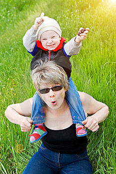Playing With Grandmother Stock Images - Image: 8924724