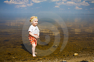 Happy Child In Water Royalty Free Stock Images - Image: 8925549
