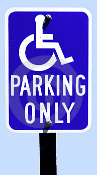 Parking Sign For Disabled Drivers Stock Images - Image: 8926084