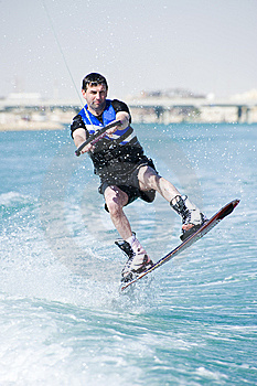 Wakeboarder In Action Royalty Free Stock Images - Image: 8926129