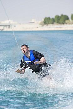 Wakeboarder In Actie Stock Foto - Afbeelding: 8926130