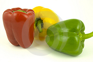 Three Bell Peppers Royalty Free Stock Images - Image: 8927289