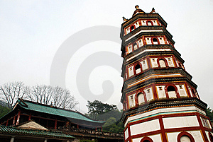 Torre Del Budismo Imagen de archivo - Imagen: 8929311