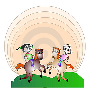 Kids Riders Emblem Stock Images - Image: 8929624