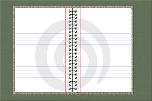 Double Sided Blank Notebook Royalty Free Stock Photos - Image: 8931348