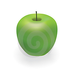 Vector Green Apple Royalty Free Stock Photography - Image: 8931387