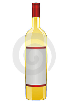 Bottle Of White Wine Royalty Free Stock Photography - Image: 8931447