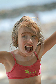Teenage Girl Shouting Stock Photo - Image: 8931770