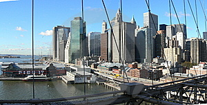 Buildings And Bridges From Manhattan Royalty Free Stock Image - Image: 8932926