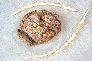 Rye Bread On Canvas Stock Photography - Image: 8934702
