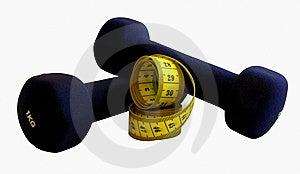 评定磁带的哑铃 库存照片 - 图片: 8934933