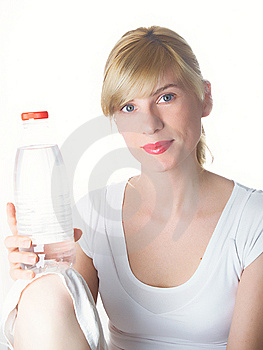 The Girl With Bottle Stock Photos - Image: 8935213