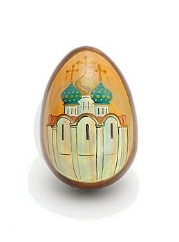Russian Easter Egg Isolated Royalty Free Stock Image - Image: 8935336